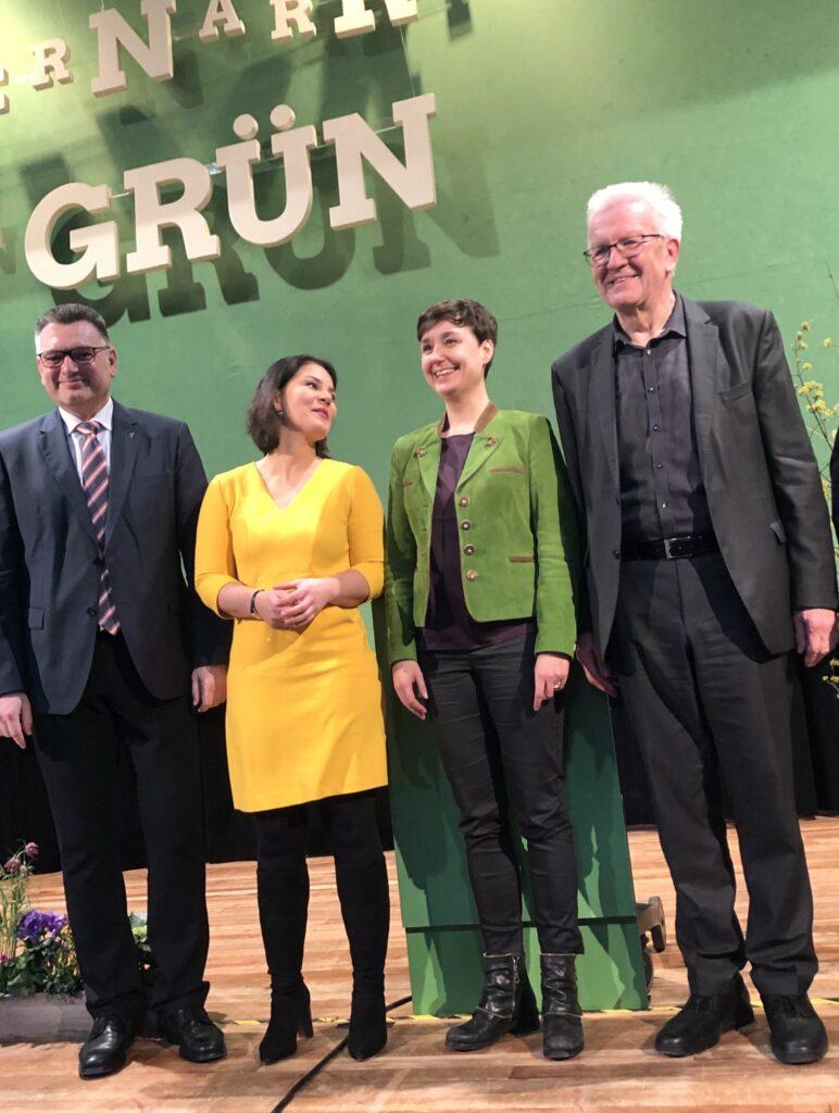 Annalena Baerbock, Sandra Detzer, Winfried Kretschmann Aschermittwoch, Grüne BW